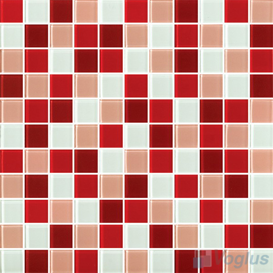 Burgundy 1x1 Blend Crystal Glass Mosaic Tiles VG-CYR95