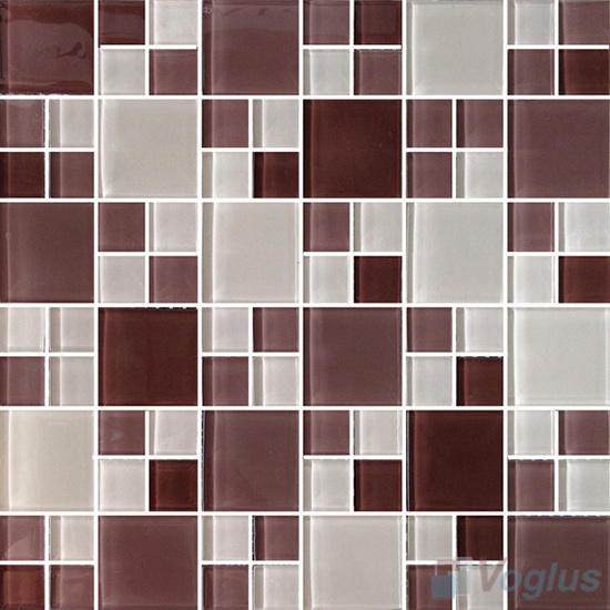 Chestnut Miscellaneous Crystal Glass Mosaic Tiles VG-CYS91