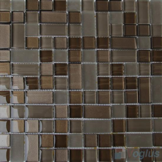 Coffee Twingrace Crystal Tile Glass Mosaic VG-CYQ95
