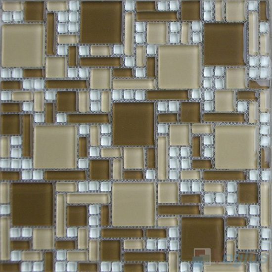Drab Miscellaneous Crystal Glass Mosaic Tiles VG-CYS96