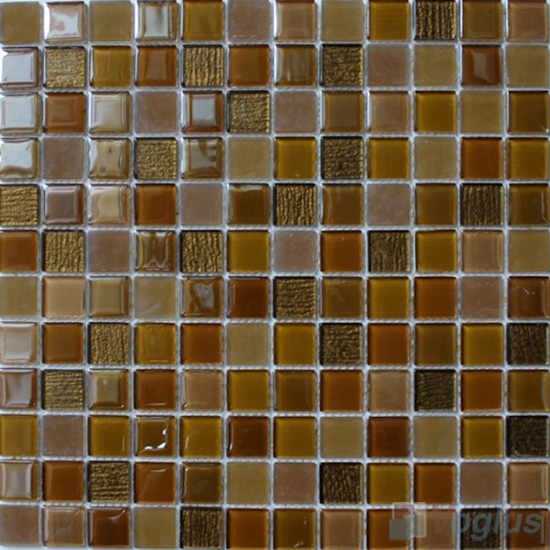 Field Drab 1x1 Crystal Glass Tiles VG-CYB95