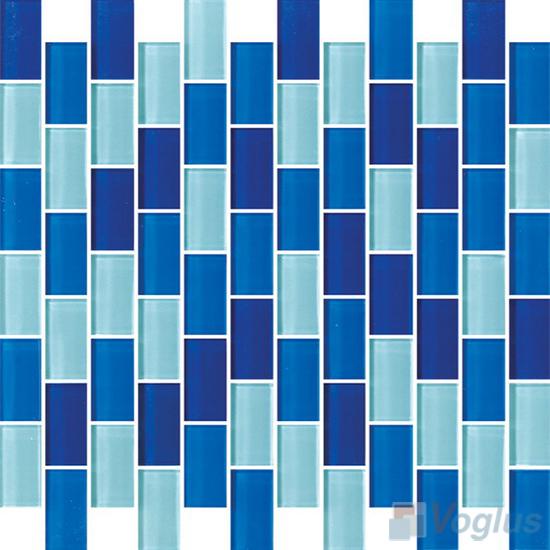 Fresh Blue 1x2 Subway Brick Glass Tiles VG-CYD98