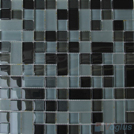 Gray Milo Twingrace Crystal Tile Glass Mosaic VG-CYQ94
