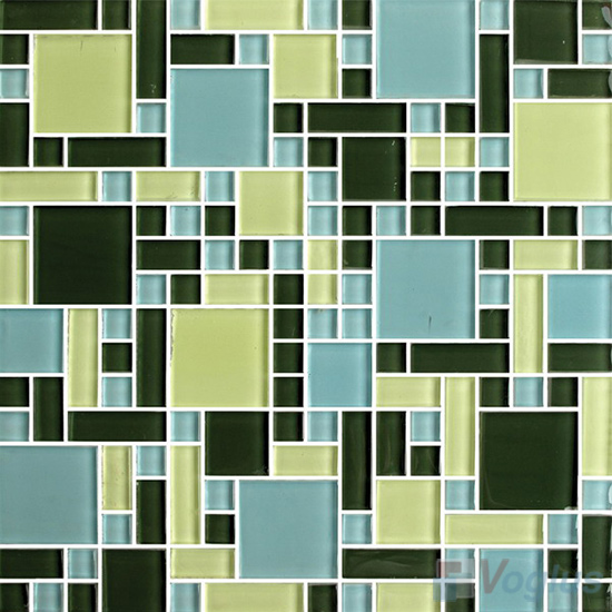Green Blue Miscellaneous Crystal Glass Mosaic Tiles VG-CYS92