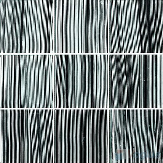 Maze Line 4x4 Gold Leaf Glass Tile VG-GFG95