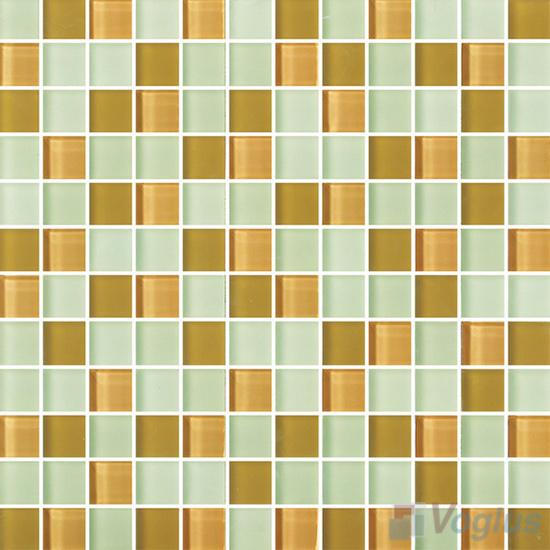Mint Cream 1x1 Blend Crystal Glass Mosaic Tiles VG-CYR85