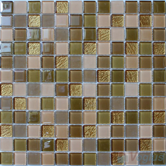 Olive 1x1 Crystal Glass Tiles VG-CYB94