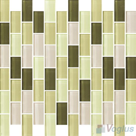 Olive 1x2 Subway Brick Glass Tiles VG-CYD96