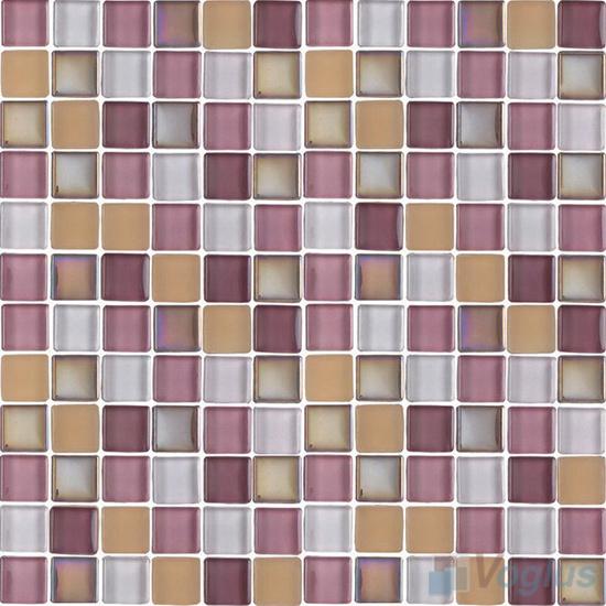 Purple 1x1 Blend Crystal Glass Mosaic Tiles VG-CYR89