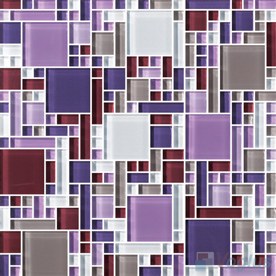 Purple Mix Miscellaneous Crystal Glass Mosaic Tiles VG-CYS98