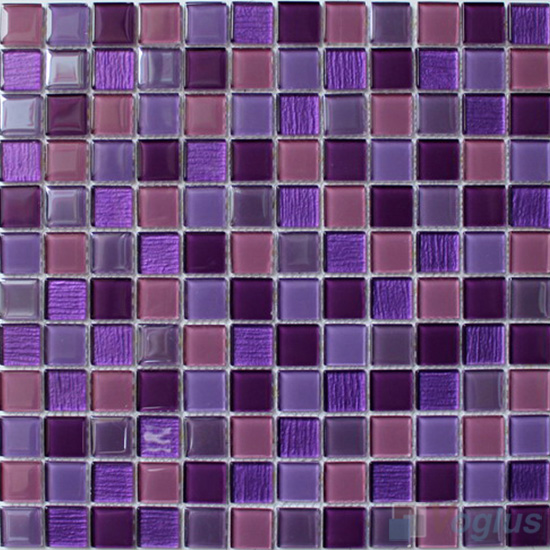 Purple Mixed 1x1 Crystal Glass Tiles VG-CYB89
