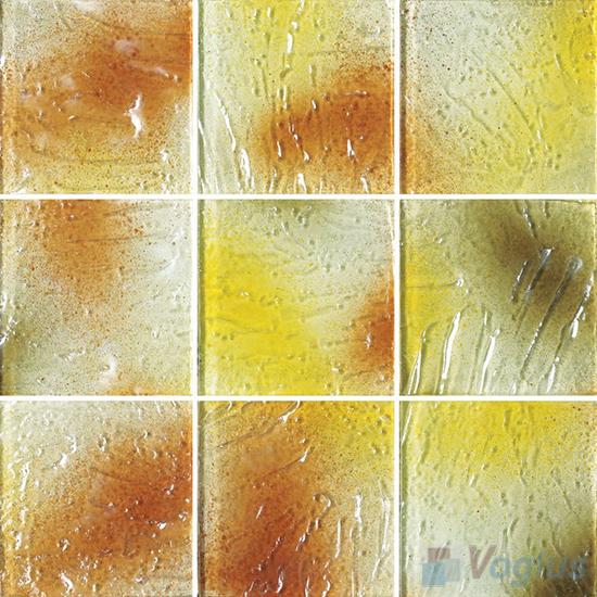 Sunset 4x4 Gold Leaf Glass Tile VG-GFG99