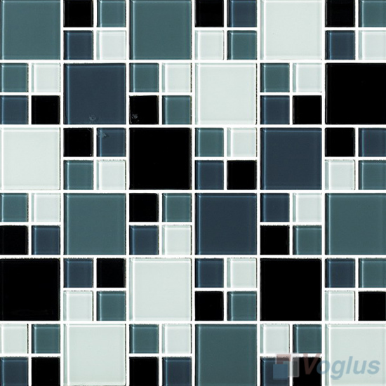Teal Green Miscellaneous Crystal Glass Mosaic Tiles VG-CYS90