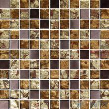 1x1 Gold Leaf Glass Mosaic Tile VG-GFB77