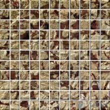 1x1 Gold Leaf Glass Mosaic Tile VG-GFB83