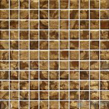 1x1 Gold Leaf Glass Mosaic Tile VG-GFB84