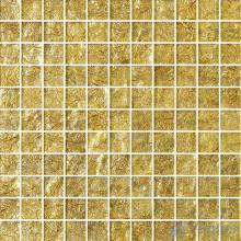 1x1 Gold Leaf Glass Mosaic Tile VG-GFB87