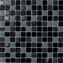 Black Grey 1x1 Crystal Glass Tiles VG-CYB88