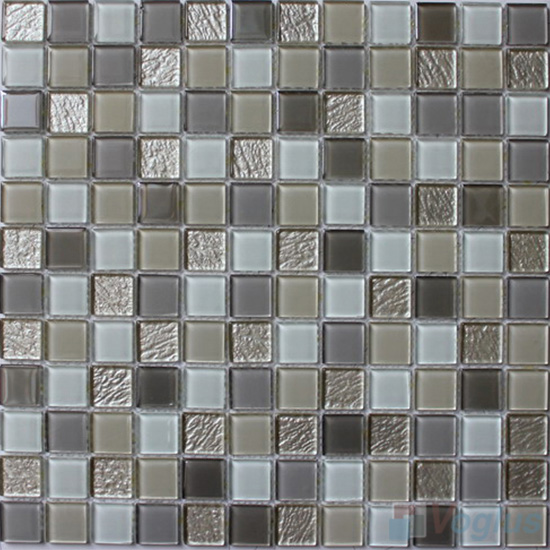 Timberwolf 1x1 Crystal Glass Tiles VG-CYB91
