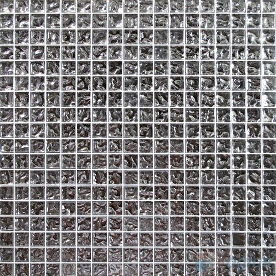 15x15mm Rough Metal Plated Glass Mosaic Tiles VG-PTA85