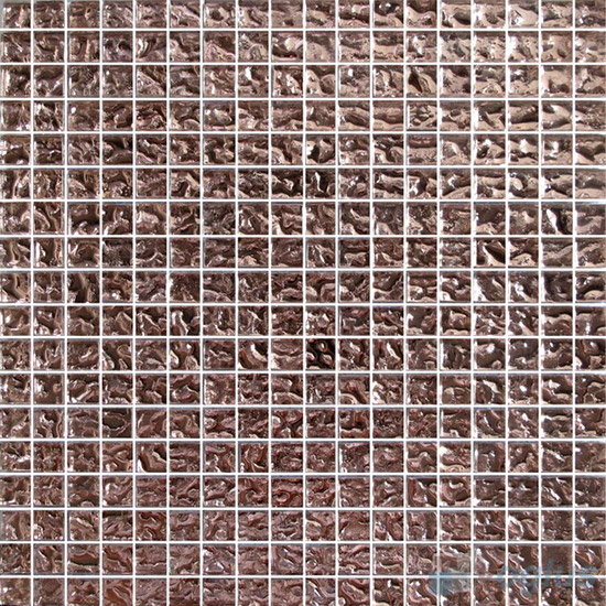 15x15mm Rough Metal Plated Glass Mosaic Tiles VG-PTA86
