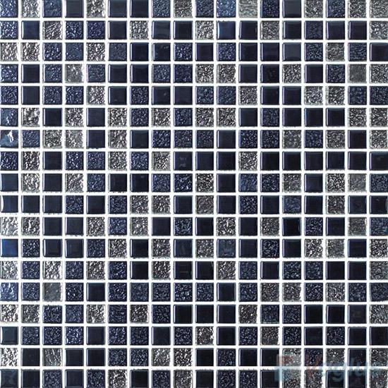 15x15mm Rough Metal Plated Glass Mosaic Tiles VG-PTA87