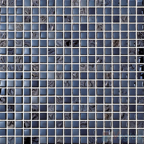 15x15mm Rough Metal Plated Glass Mosaic Tiles VG-PTA91
