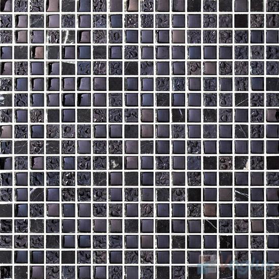 15x15mm Rough Metal Plated Glass Mosaic Tiles VG-PTA92