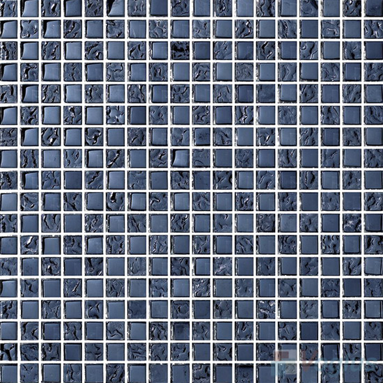 15x15mm Rough Metal Plated Glass Mosaic Tiles VG-PTA93