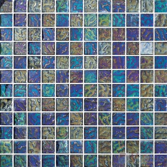 1x1 Rough Metal Plated Glass Mosaic Tiles VG-PTB87