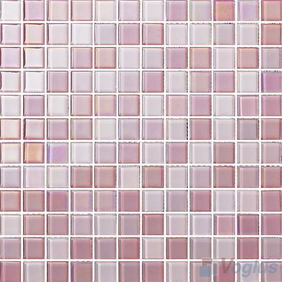 1x1 Rough Metal Plated Glass Mosaic Tiles VG-PTB89