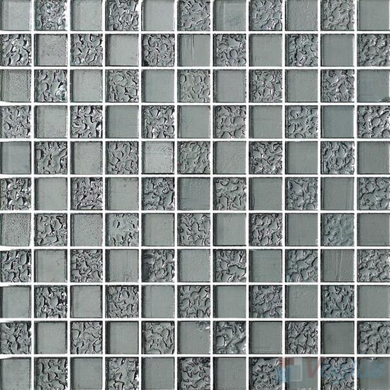 1x1 Rough Metal Plated Glass Mosaic Tiles VG-PTB93