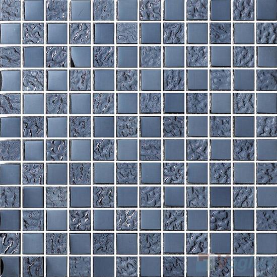 1x1 Rough Metal Plated Glass Mosaic Tiles VG-PTB94