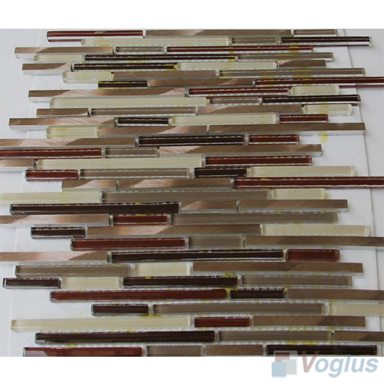 Bullet Glass Metal Mosaic Tiles VB-GMH86
