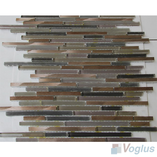 Bullet Glass Metal Mosaic Tiles VB-GMH87