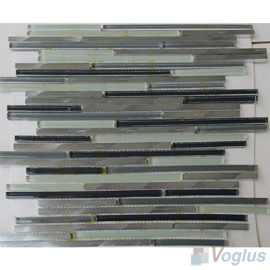 Bullet Glass Metal Mosaic Tiles VB-GMH89