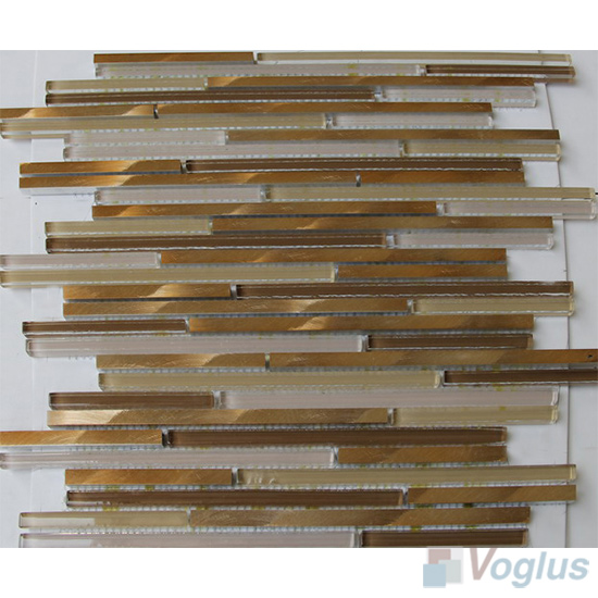 Bullet Glass Metal Mosaic Tiles VB-GMH90