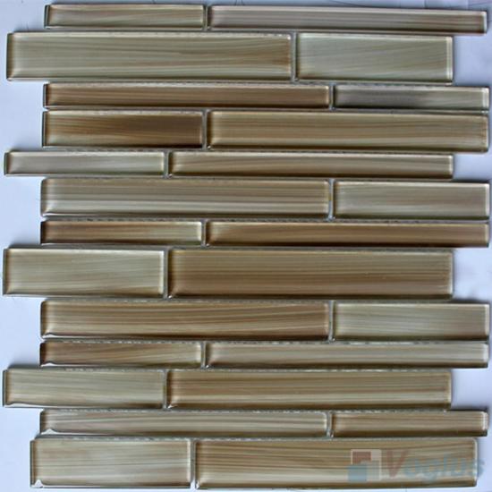 Cemel Linear Hand Painted Glass Mosaic Tiles VG-HPL97
