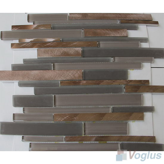 Linear Glass Metal Mosaic Tiles VB-GMH94
