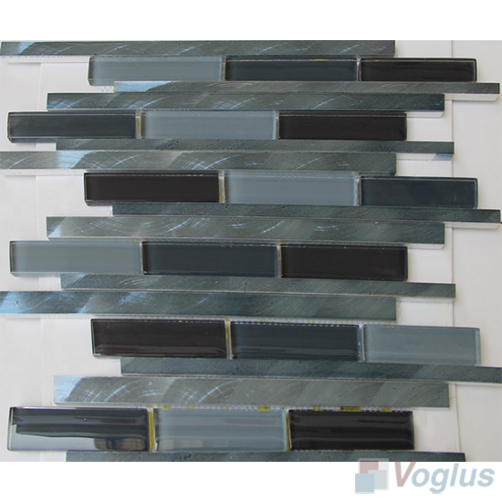 Linear Glass Metal Mosaic Tiles VB-GMH98