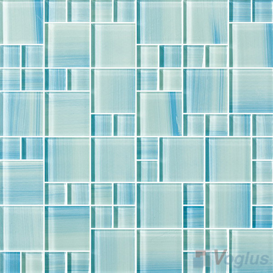Magic Cube Hand Painted Glass Tile VG-HPM87
