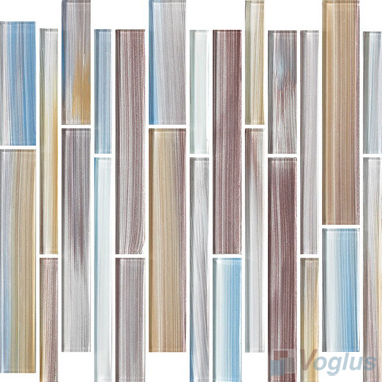 Maples Linear Hand Painted Glass Mosaic Tiles VG-HPL92