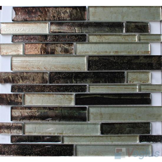 Metallic Waterfall Hand Painted Glass Tiles Mosaic VG-HPL85