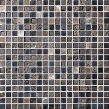15x15mm Rough Metal Plated Glass Mosaic Tiles VG-PTA90