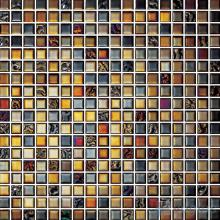 15x15mm Rough Metal Plated Glass Mosaic VG-PTA83
