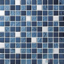1x1 Rough Metal Plated Glass Mosaic Tiles VG-PTB88