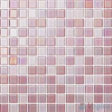 1x1 Rough Metal Plated Glass Mosaic Tiles VG-PTB89