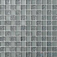 1x1 Rough Metal Plated Glass Mosaic Tiles VG-PTB93