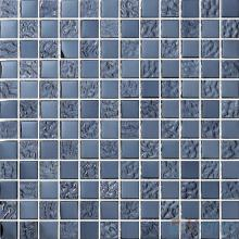 1x1 Rough Metal Plated Glass Mosaic Tiles VG-PTB94