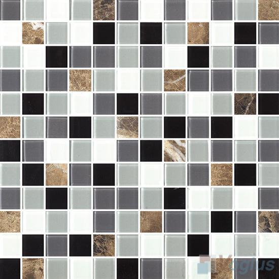 1x1 Glass Marble Mixed Mosaic Tiles VB-GSB85